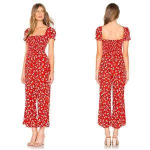 Faithfull The Brand Della Jumpsuit Red Floral